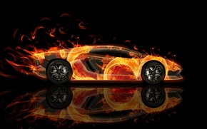 Picture Wallpaper, Style, Lambo, Wallpaper, sport, Anime, Gallardo, lamborghini, side view, Lamborghini, Superbird, Gallardo, Airbrushing, Side …