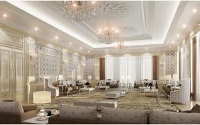 Picture design, style, room, Villa, interior, living room, Dom-castle