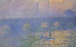 Picture picture, the urban landscape, Claude Monet, Waterloo Bridge. London