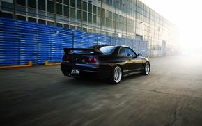 Picture Nissan, GT-R, track, Nissan, Skyline, R33, V-spec