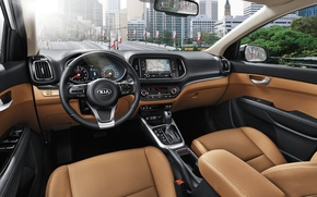 Picture interior, Kia, crossover, KX3, torpedo, panel, Kia, salon, the wheel