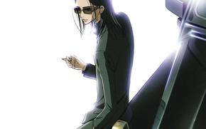 Picture glasses, cigarette, white background, art, ai yazawa, Nan, nana, Takumi ichinose