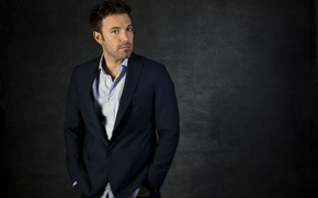 Picture actor, male, the dark background, Ben Affleck