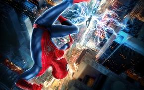 Picture City, USA, Fantasy, Hero, Amazing, Electro, Lightning, New York, The, Wallpaper, Year, EXCLUSIVE, MARVEL, Spider-Man, …