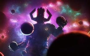 Picture space, planet, villain, art, marvel comics, galactus