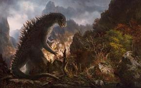 Picture forest, nature, monster, Godzilla, Godzilla
