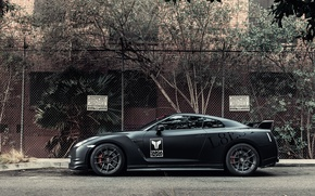 Picture Matt, profile, Nissan, GT-R, black, Nissan