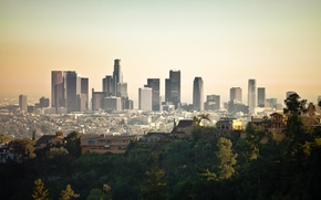Picture city, the city, USA, skyline, Los Angeles, California
