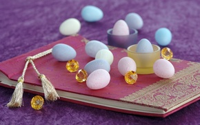 Picture stones, holiday, eggs, Easter, album, Easter