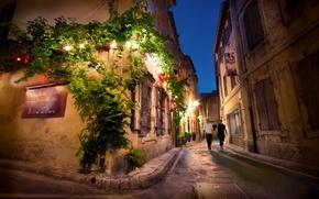 Wallpaper night, France, France, Night, Street, Saint Remy de Provence