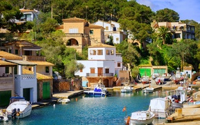 Picture sea, boats, boat, the hotel, resort, Spain, Spain, Mallorca, Resorts