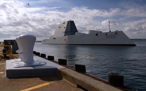 """Picture ship, combat, destroyer, """"Zumwalt"""", DDG 1000"""