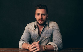Wallpaper Variety, photoshoot, Aaron Taylor-Johnson, denim, Andrew H Walker, actor, Aaron Taylor-Johnson, shirt, beard