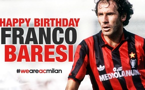 Picture Milan, defender, Italian, Champions League, Franco Baresi
