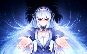 Picture girl, background, hair, hands, art, rozen maiden, suigintou, mtyy