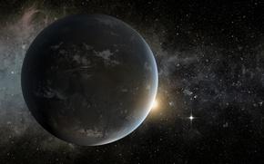 Picture star, nebula, exoplanet, the planetary system, Lira, the super-earth, Kepler-62, orange dwarf