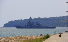 Picture sea, ship, military, military