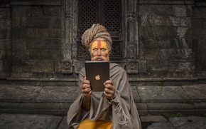 Picture Apple, surprise, EPL, tablet, yogi, Hi-Tech, Ipad, Nepal, Buddhism, IPad, Nepal, rishi, yog, Rishi