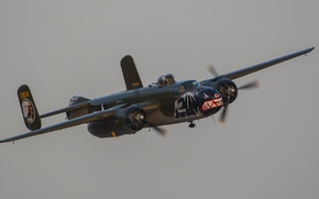 Picture bomber, twin-engine, average, B-25