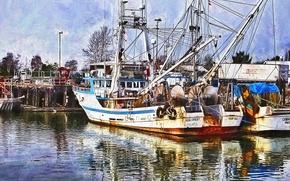 Picture sea, Marina, port, the ship