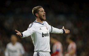 Wallpaper Sport, Football, Football, Real Madrid, Real Madrid, Sport, Sergio Ramos, Sergio Ramos