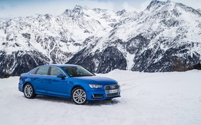 Picture winter, snow, mountains, Audi