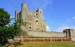 Wallpaper wall, fortress, tower, Rochester Castle, England, castle