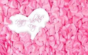 Wallpaper pink, Happy, love, Valentine's Day, heart, hearts, romantic