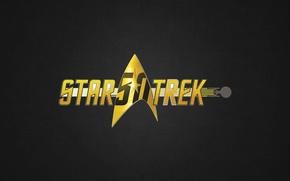 Picture cinema, logo, Star Trek, texture, movie, film, 50th anniversary