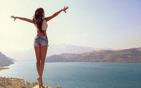 Picture landscape, beauty, dal, ballerina