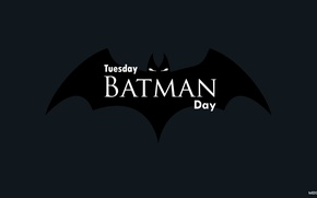 Picture Minimalism, Logo, Day, Background, Batman, Day, Tuesday, Tuesday