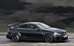Picture England, Mercedes-Benz, Road, Germany, Sport, Speed, Wallpaper, AMG, Coupe, Mercedes-Benz, Black Series, C63, Coupe, AMG, …