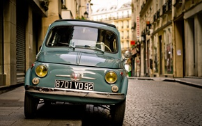 Picture Car, Street, Fiat, Town