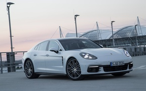 Wallpaper light, lights, car, Panamera, Porsche, Panamera, the front, Porsche