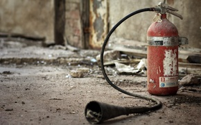 Picture background, room, a fire extinguisher