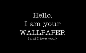 Picture minimalism, black and white, wallpaper, i love u