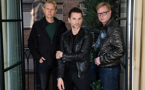 Picture Depeche Mode, Martin Gore, David Gahan, Andrew Fletcher, the group
