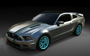 Picture strip, background, tuning, Mustang, Ford, Ford, Mustang, drives, tuning, the front, Muscle car, Muscle car, ...
