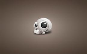 Picture white, eyes, skull, minimalism, head, skeleton