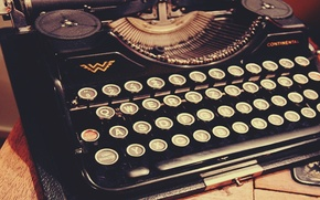 Picture vintage, style, retro, old, print, typewriter
