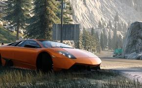 Picture forest, mountains, nature, Lamborghini, The Crew, Wild Run, Murcielago LP