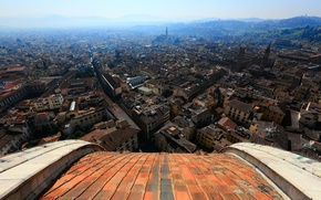 Picture the sky, home, Italy, panorama, Florence, street, quarter, the view from the dome of the …