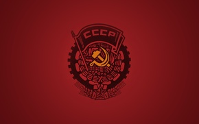 Picture Red, Background, USSR, The Hammer and sickle