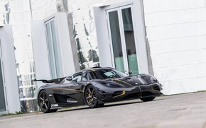 Picture black, koenigsegg, 2015, gipercar, one1