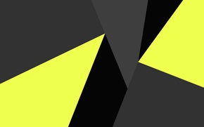 Picture yellow, abstraction, grey, black, geometry