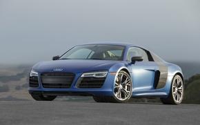 Picture Audi, more, Blue, V10, R8