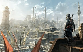 Wallpaper assassins creed, Ezio, revelations