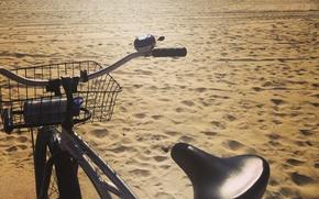 Picture sand, beach, bike