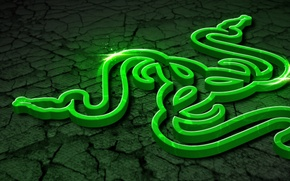Picture Art, Green, Black, Logo, Razer, White, Wallpaper, Hi-Tech, Razer Control