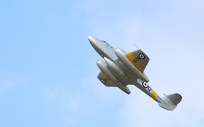 Wallpaper fighter, the sky, jet, flight, Gloster Meteor